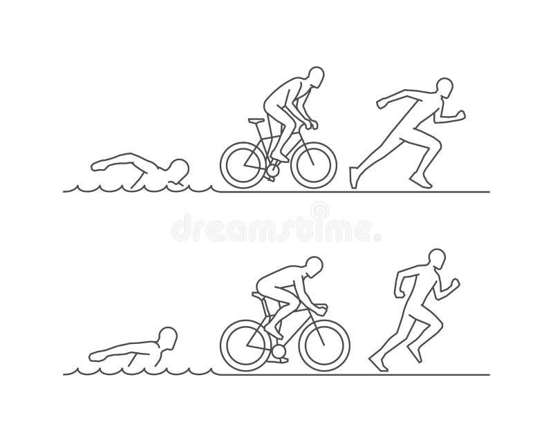 Vektor Triathlonlogo stock abbildung