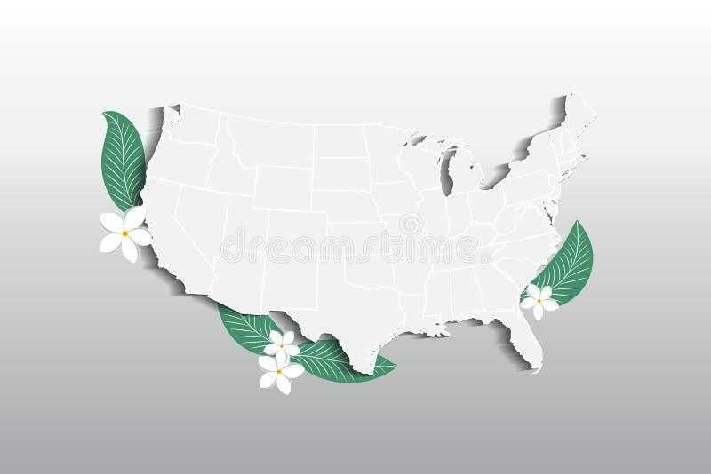 Vektor USA zeichnen Blumenlogoikonenbild auf vektor abbildung