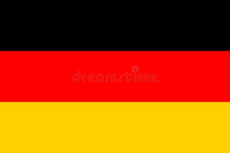 Vektor vorhanden Auch im corel abgehobenen Betrag Flagge Deutschlands vektor abbildung