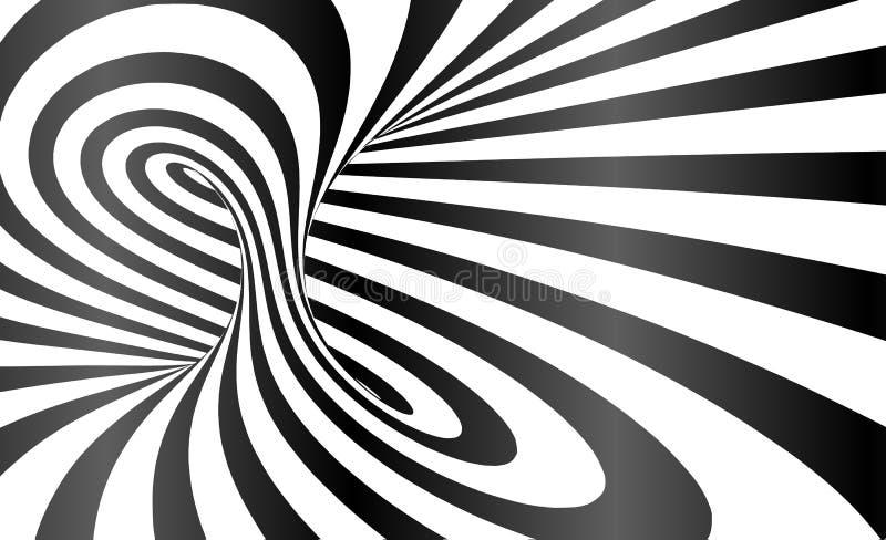 Vektor vriden bakgrund för abstrakt begrepp för optisk illusion för band vektor illustrationer