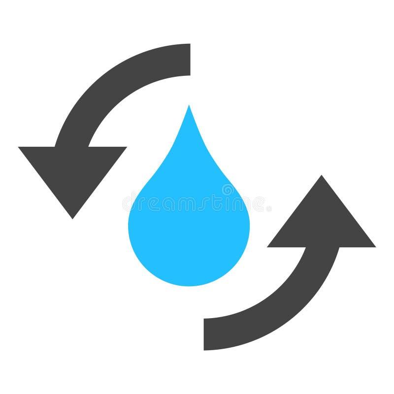 Vektor-Wasser erneuert Pfeil-Ikonen-Illustration lizenzfreie abbildung