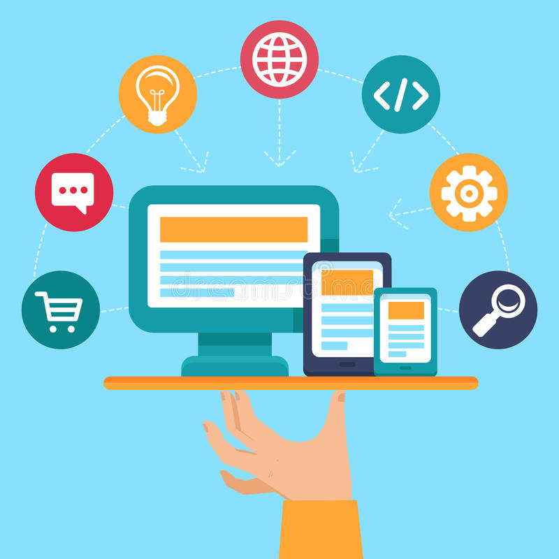 Vektor webdesign und Programmierungsservice lizenzfreie abbildung