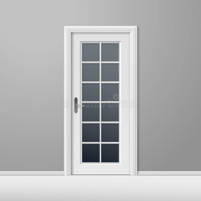 Geschlossene tür  Vektor-weiße Geschlossene Tür Mit Rahmen Vektor Abbildung - Bild ...