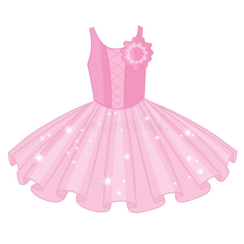 Vektor-weiches rosa Ballett-Ballettröckchen-Kleid vektor abbildung