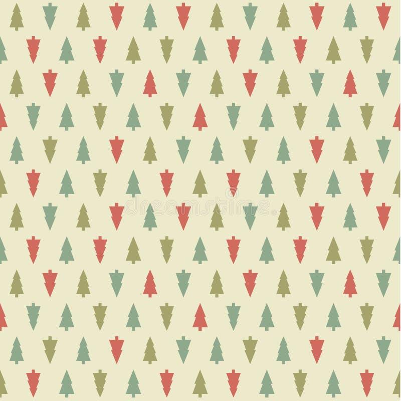 Vektor-Weihnachtsmuster. Colorfuly Weihnachts-seamles Beschaffenheit. lizenzfreie abbildung