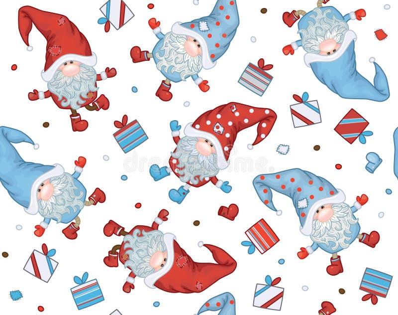 Vektor-Weihnachtsnahtloses Muster stock abbildung