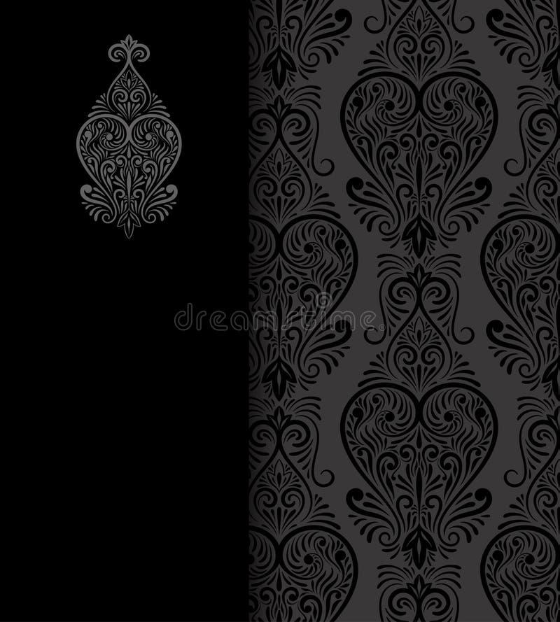 Vektor-Weinlese-Hochzeits-Einladung auf Lacy Pattern vektor abbildung