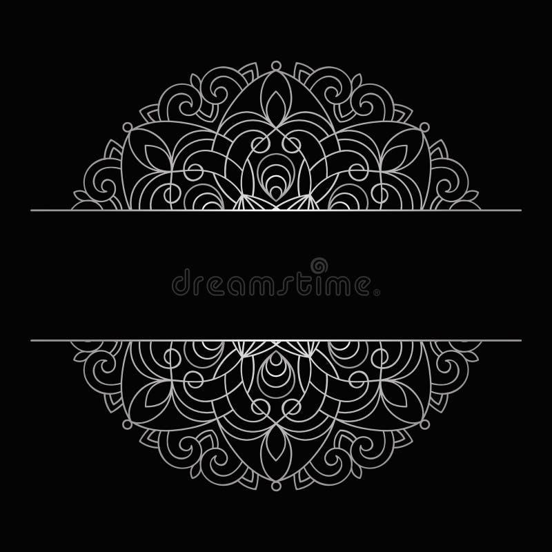 Vektor-Weinlese-Hochzeits-Einladung auf Lacy Pattern stock abbildung