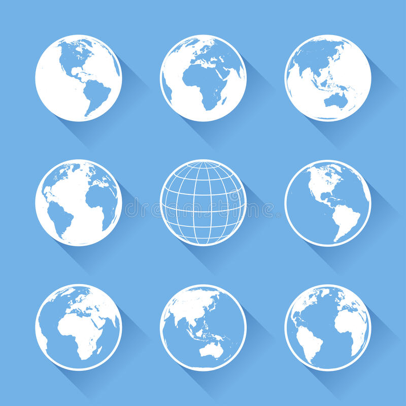 Vektor-Weltkugelikonen vektor abbildung