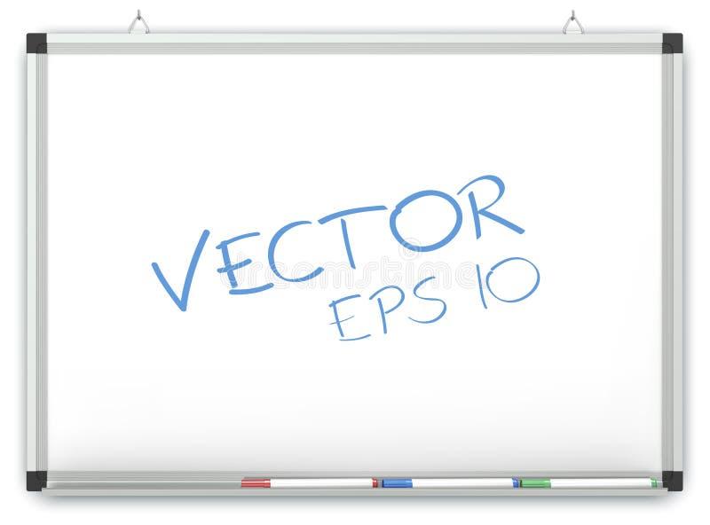 Vektor Whiteboard vektor illustrationer