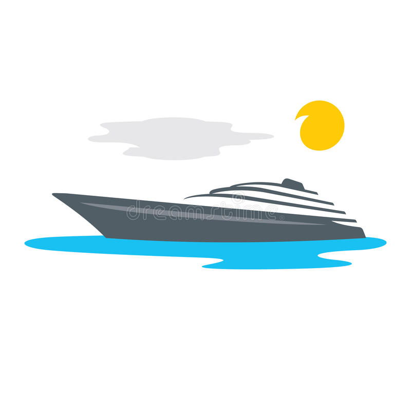 Vektor-Yacht-Karikatur-Illustration vektor abbildung