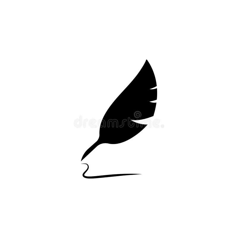 Vektor-Zeichensymbol der Federstiftikone Illustration lokalisiertes Übersetzt Ikone vektor abbildung