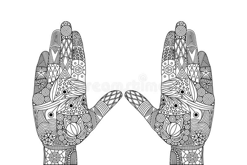 Vektor Zen Tangle der Geste der Freude lizenzfreie abbildung