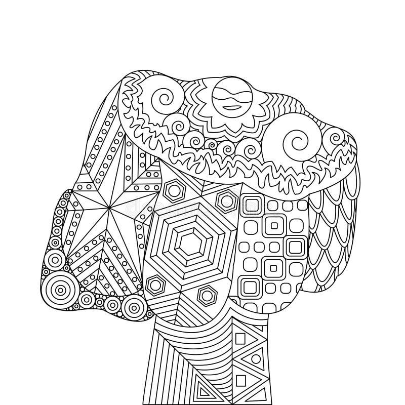 Vektor Zen Tangle des Durchschlages lizenzfreie abbildung