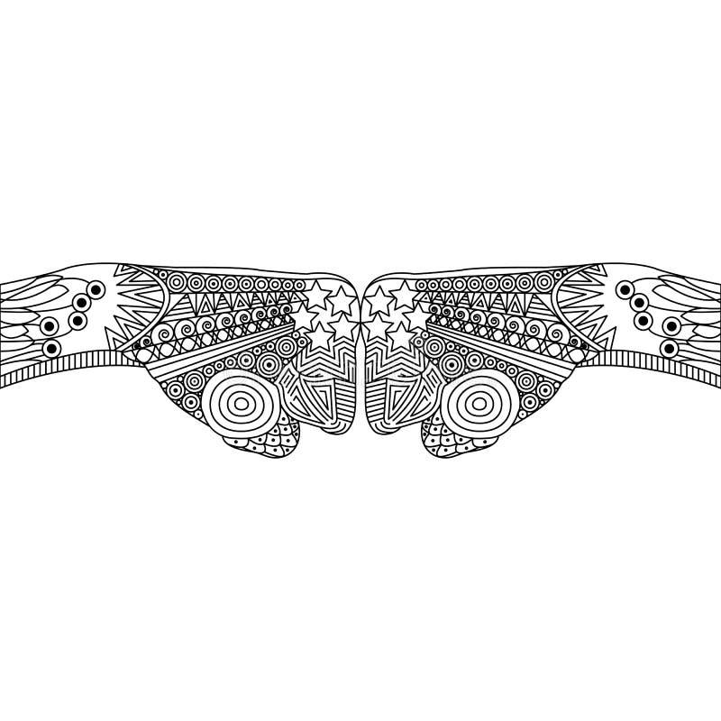 Vektor Zen Tangle eines Gesten-Faust-Stoßes vektor abbildung