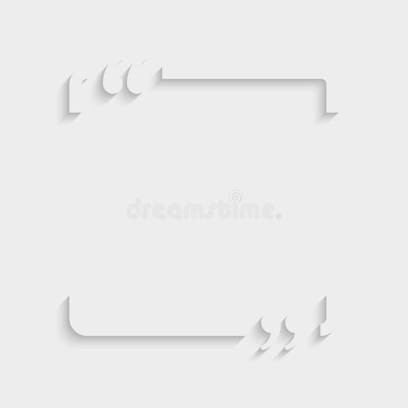 Vektor Zitat Quadrat Visitenkarte Klammer Vektor Abbildung