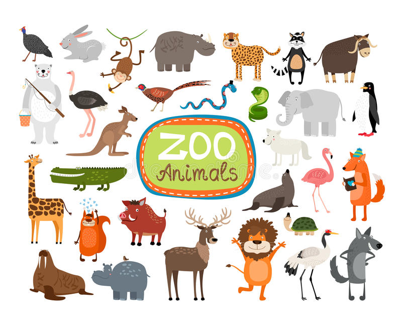 Vektor-Zoo-Tiere vektor abbildung