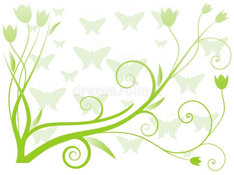 Vektorabbildung des abstrakten Blumenhintergrundes lizenzfreie abbildung