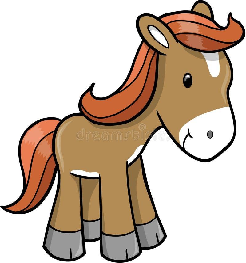 Vektorabbildung des Pferds lizenzfreie abbildung