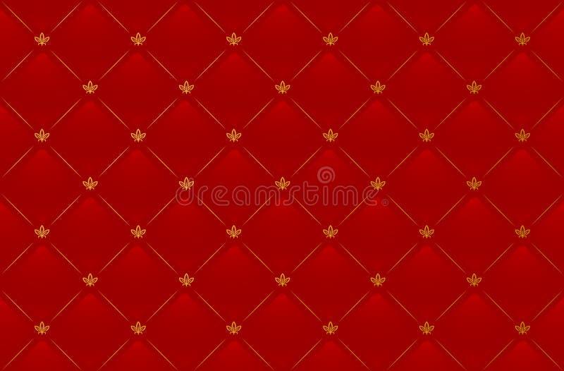 Vektorabbildung des roten ledernen Hintergrundes stock abbildung