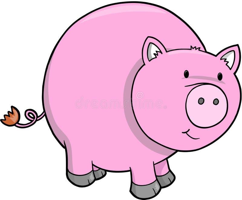 Vektorabbildung des Schweins lizenzfreie abbildung