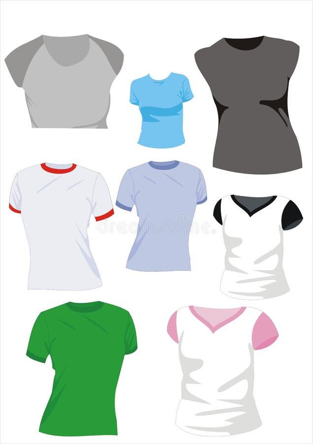 Vektorabbildung-Mädchent-shirt vektor abbildung