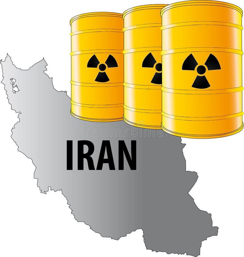 Vektorabbildung vom Iran stockfotografie