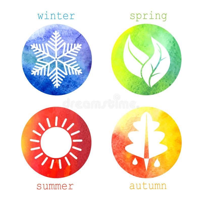 Vektorabbildung von Jahreszeiten stock abbildung