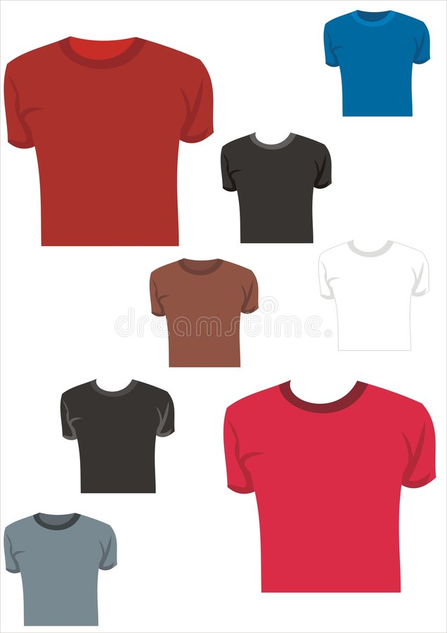 Vektorabbildungt-shirt 3 vektor abbildung