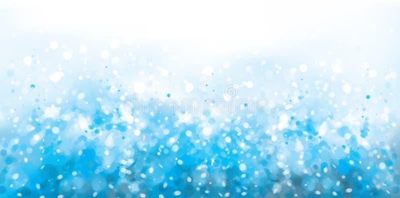 Vektorabstrakt begrepp, blått, gnistrandebakgrund vektor illustrationer