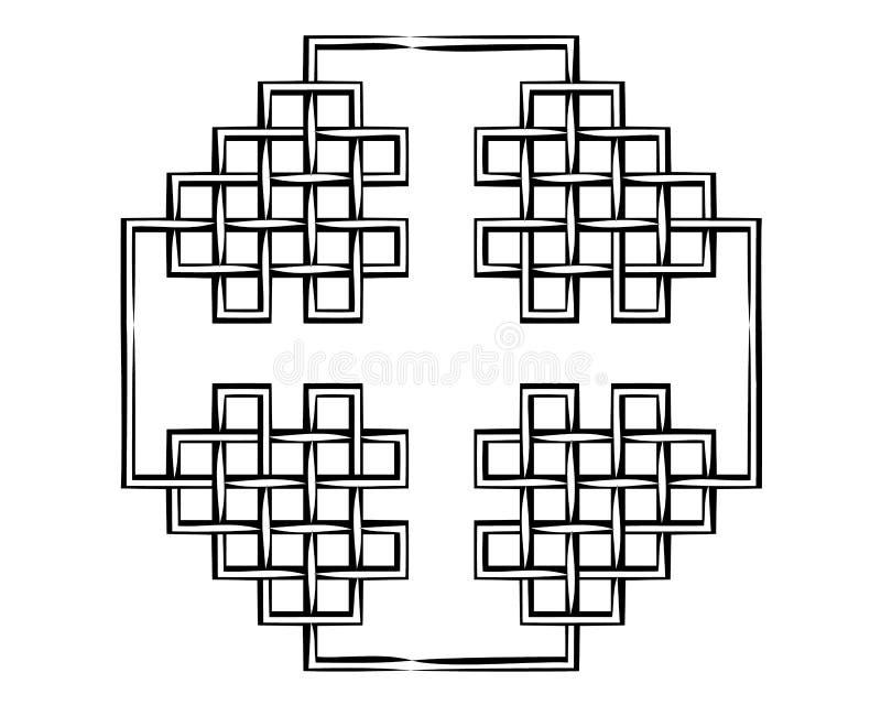 Vektorabstrakt begrepp boxas bakgrund Modern teknologiillustration med det fyrkantiga ingreppet E royaltyfri illustrationer