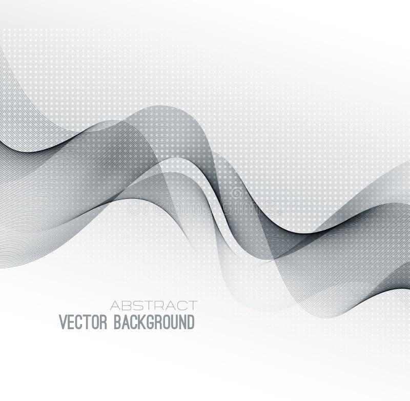 Vektorabstrakt begrepp fodrar bakgrund malldesign stock illustrationer