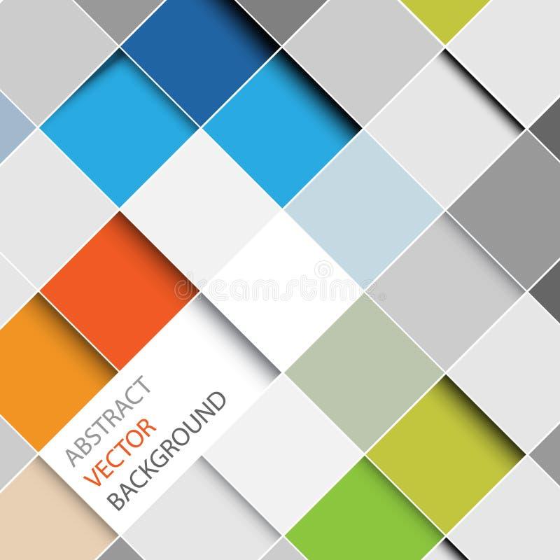 Vektorabstrakt begrepp kvadrerar bakgrundsillustrationen royaltyfri illustrationer