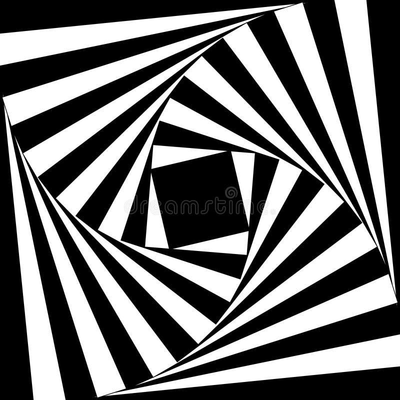 Vektorabstrakt begreppspiral vektor illustrationer