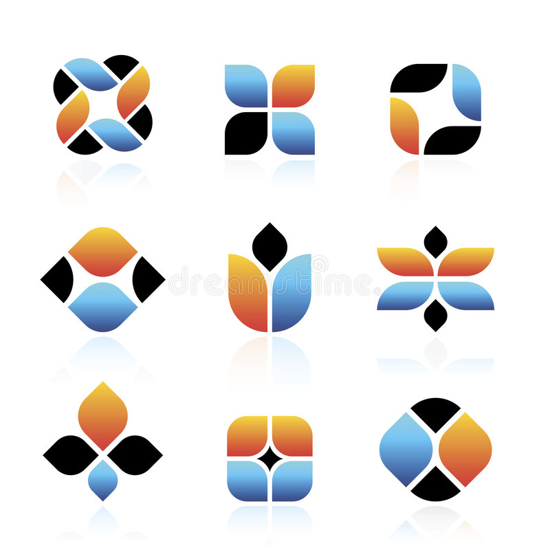 Vektorabstrakte Symbole stock abbildung