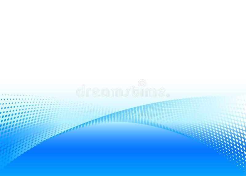 Vektorabstrakter blauer Hintergrund vektor abbildung