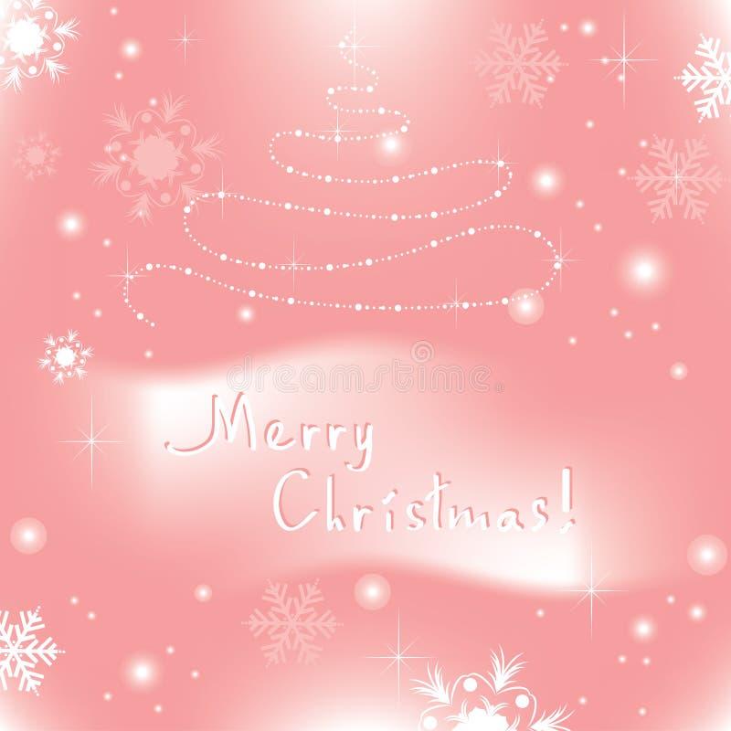 vektorabstrakter Weihnachtshintergrund stock abbildung