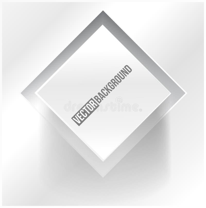 Vektorabstraktes Hintergrundquadrat. Netz-Entwurf