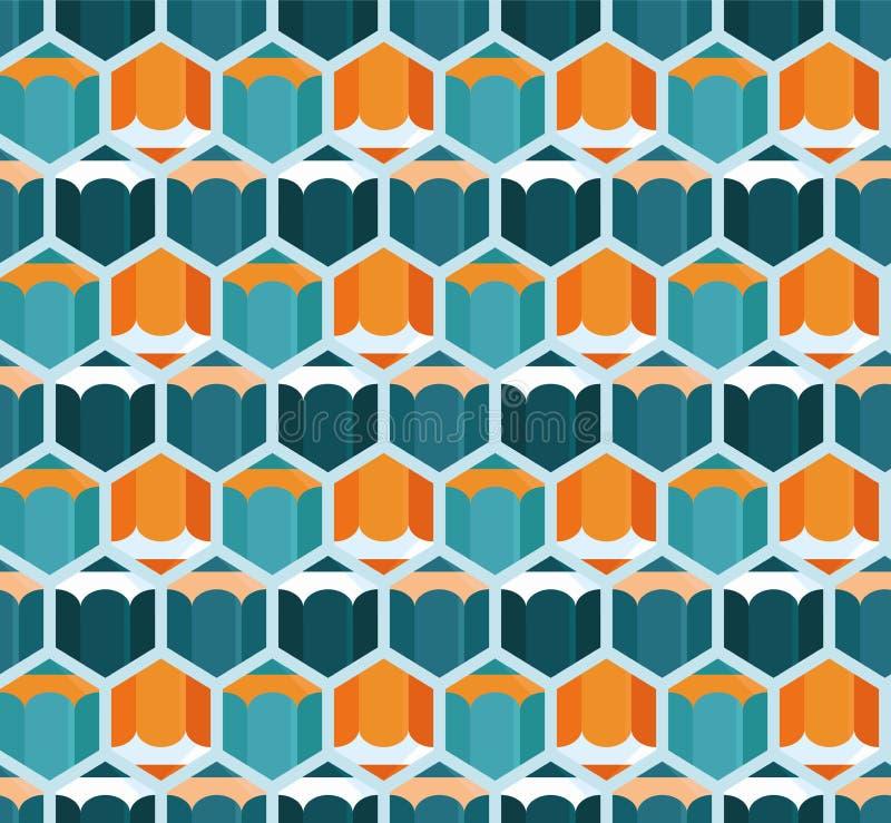 Vektorabstraktes nahtloses Muster lizenzfreie abbildung