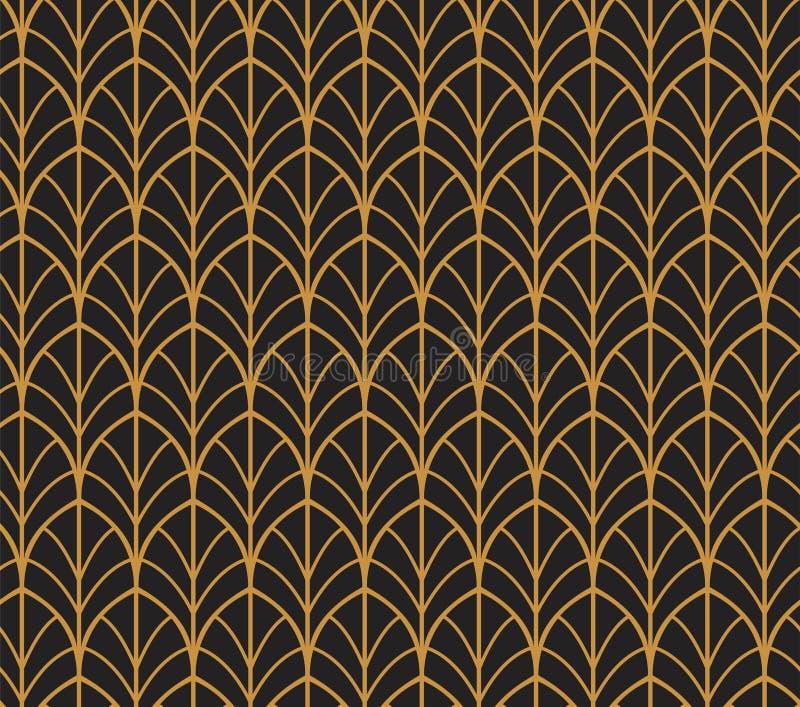 Vektorabstraktes nahtloses Muster Art Deco Style Background Geometrische Beschaffenheit lizenzfreie abbildung