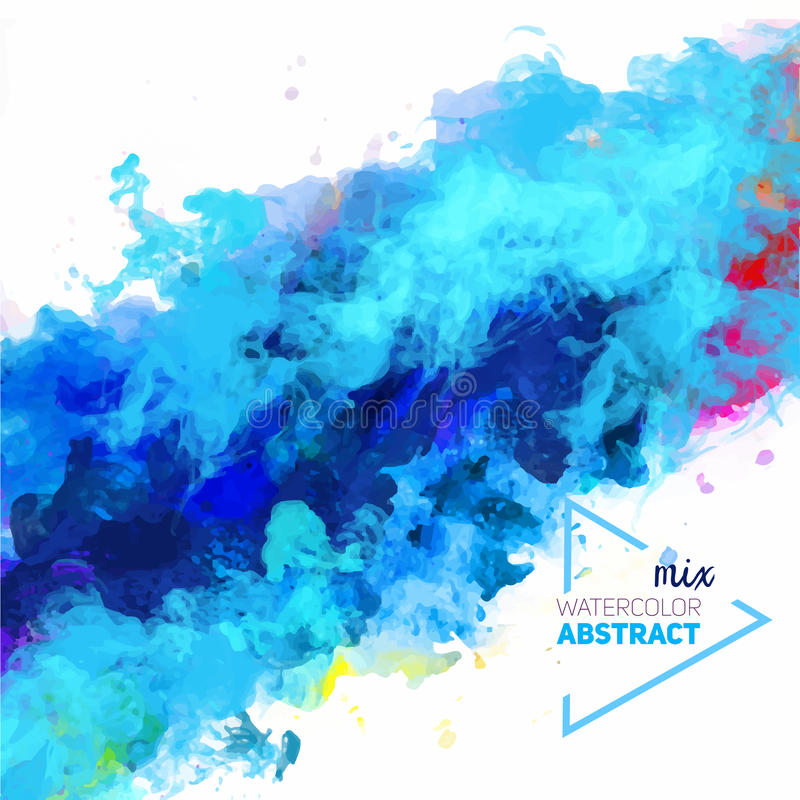Vektorabstraktion från en blandning av färger royaltyfri illustrationer
