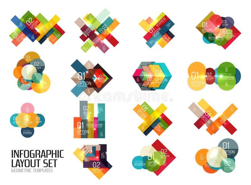 Vektoraffärsinfographics, valt alternativ vektor illustrationer