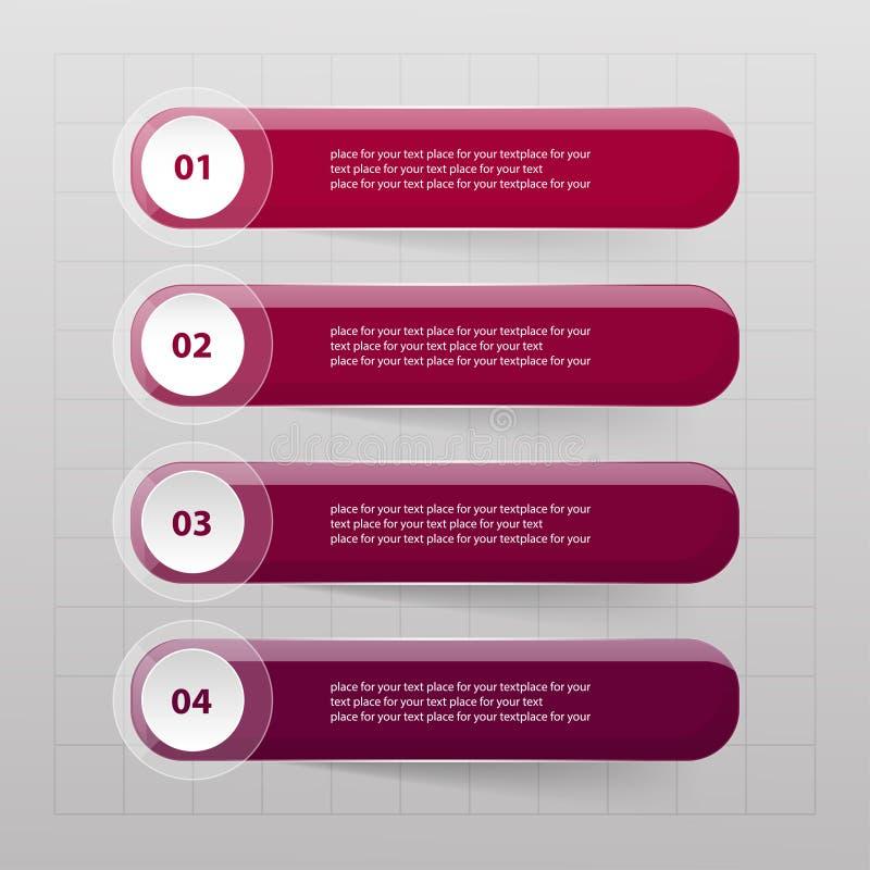 Vektoraffärsmall för presentation vektor illustrationer