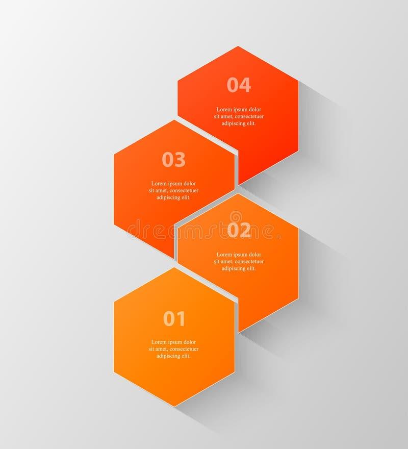Vektoraffärsmall för presentation royaltyfri illustrationer