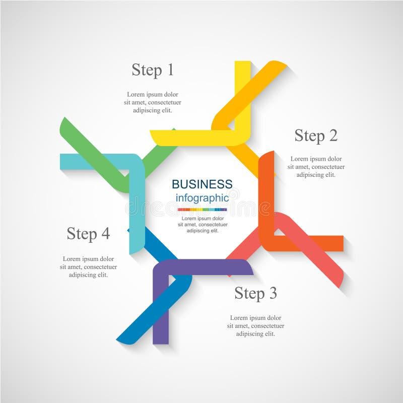 Vektoraffärsmall för presentation stock illustrationer