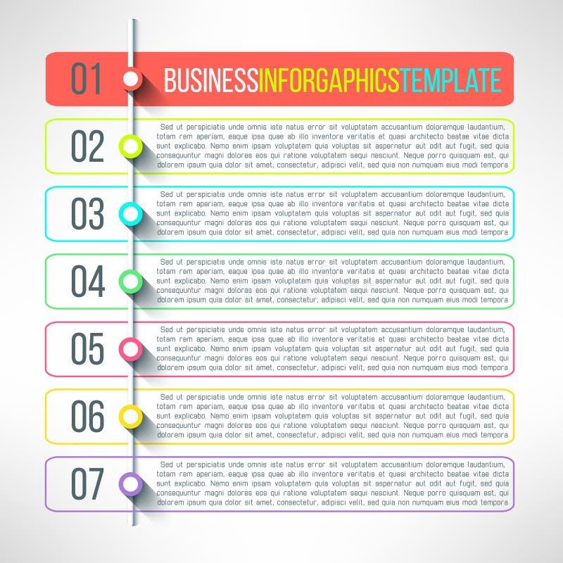 Vektoraffärsprocessen kliver infographics royaltyfri illustrationer