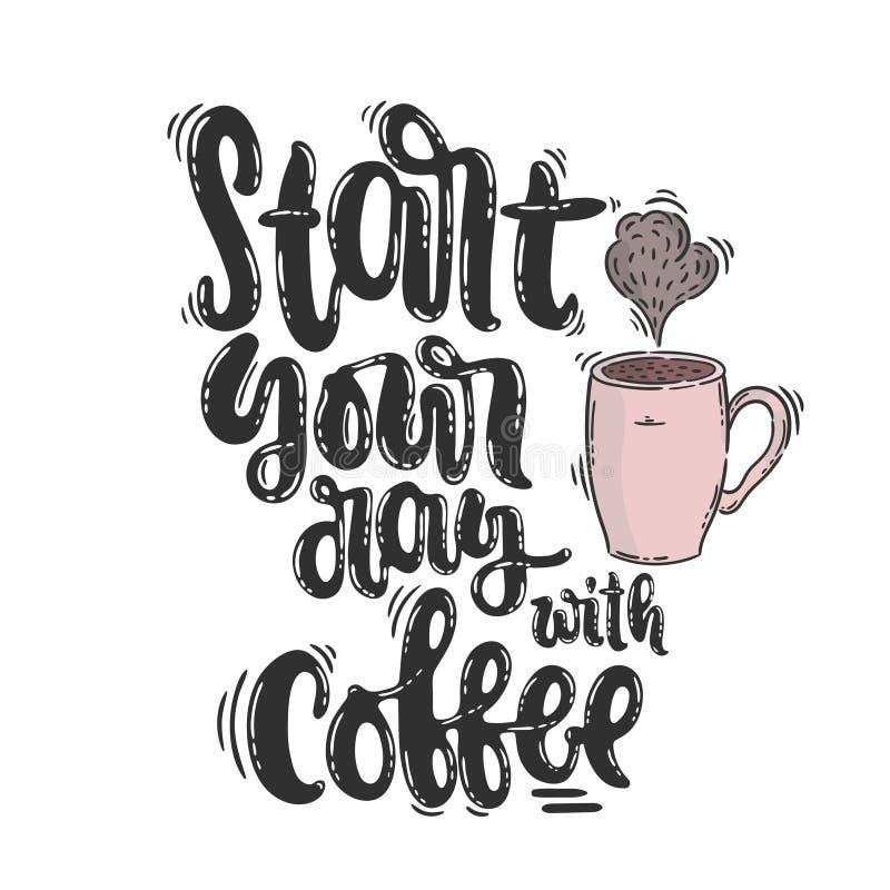 Vektoraffischkaffe stock illustrationer