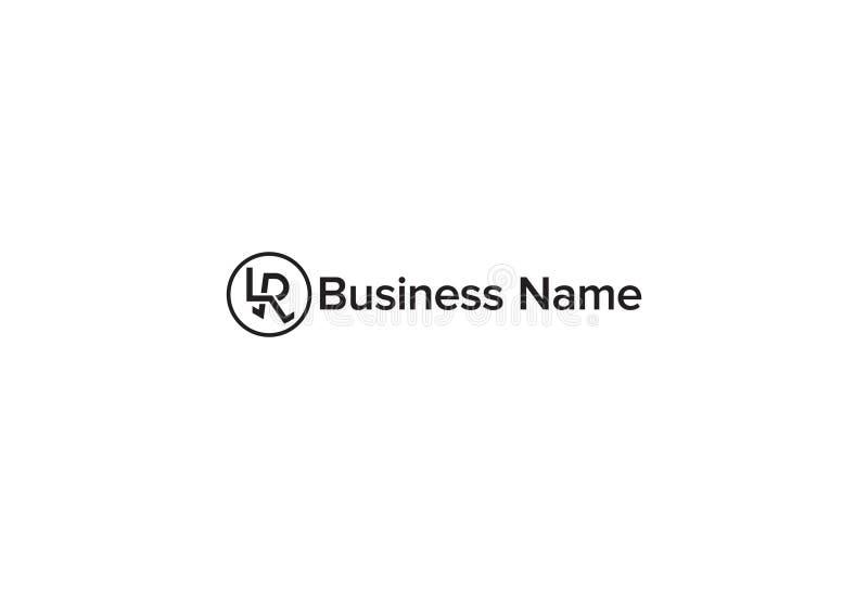 Vektoralfabet R Logo Design stock illustrationer