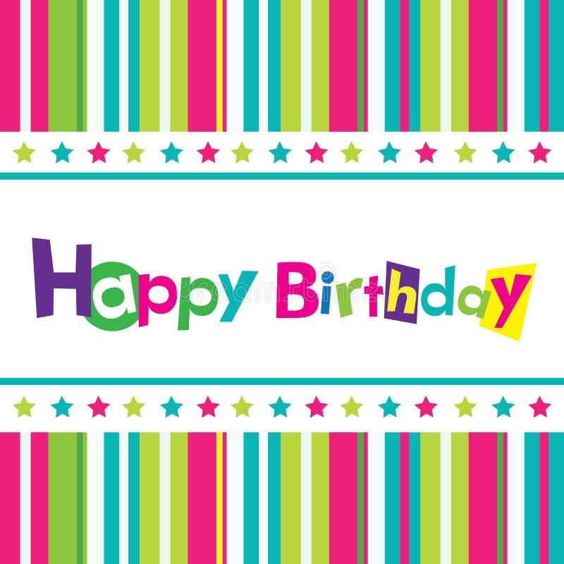 Vektoralles Gute zum Geburtstagkarte vektor abbildung