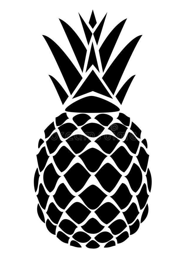 Vektorananas royaltyfri illustrationer